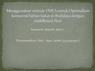 Diterjemahkan Oleh  :  Agus Salim  (3333090927)