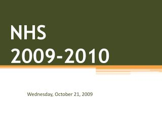 NHS  2009-2010