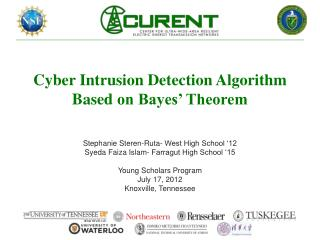 Cyber Intrusion Detection  Algorithm Based  on Bayes' Theorem