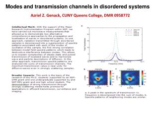 Modes and transmission channels in disordered systems