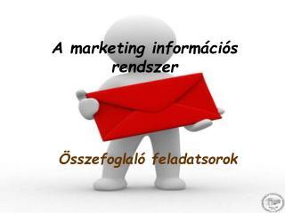 A marketing információs rendszer