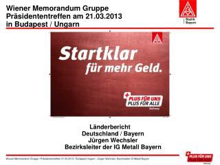 Wiener Memorandum Gruppe Präsidententreffen am 21.03.2013 in Budapest / Ungarn