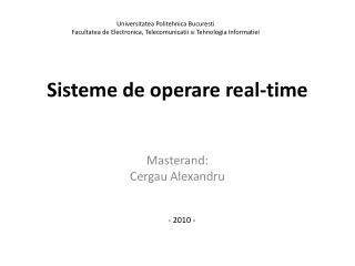 Sisteme  de  operare  real-time