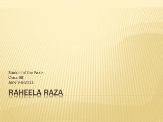Raheela Raza