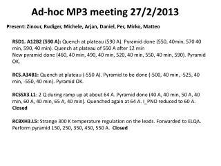 Ad-hoc MP3 meeting 27/2/2013