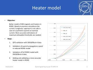 Heater model