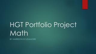 HGT Portfolio Project Math