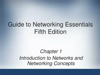 Guide to Networking Essentials Fifth Edition