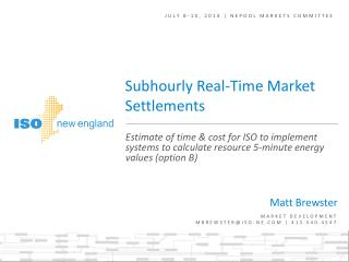 JULY 8-10, 2014 | NEPOOL MARKETS COMMITTEE