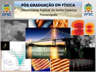PÓS GRADUAÇÃO EM FÍSICA  Universidade Federal de Santa Catarina Florianópolis