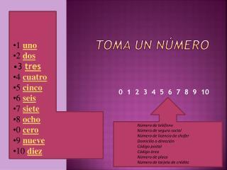 Toma un número