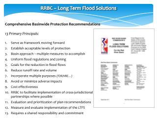 RRBC – Long Term Flood Solutions