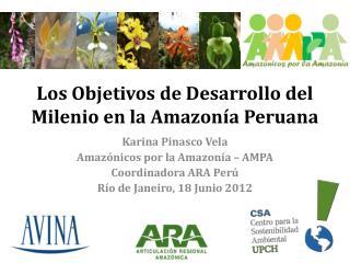 Los  Objetivos  de  Desarrollo  del  Milenio  en la Amazonía  Peruana