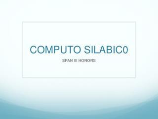 COMPUTO SILABIC0