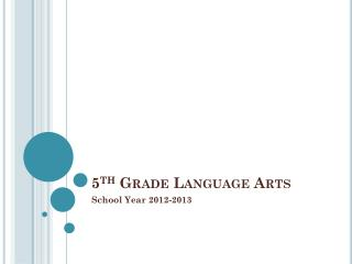 5 Th  Grade Language Arts