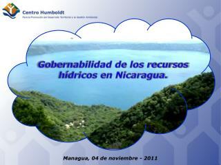 Gobernabilidad de los recursos hídricos en Nicaragua.