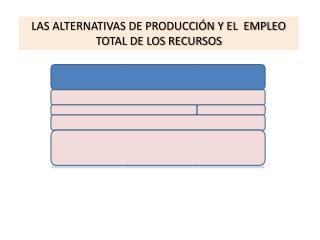 LAS ALTERNATIVAS DE PRODUCCIÓN Y EL  EMPLEO TOTAL DE LOS RECURSOS