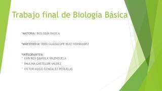 Trabajo final de Biología Básica