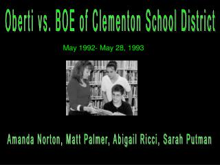 Oberti vs. BOE of Clementon School District