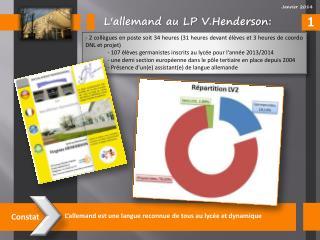 L'allemand  au LP  V.Henderson :