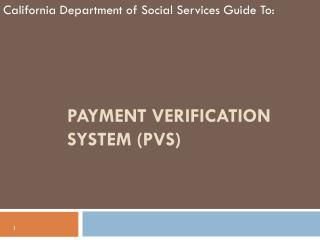 Payment Verification System (PVS)