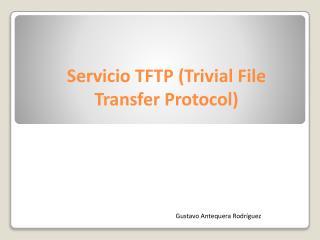 Servicio TFTP (Trivial File Transfer Protocol)