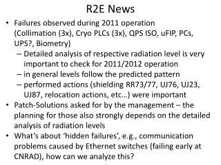 R2E  News