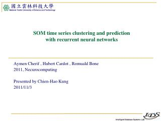 SOM time series clustering and prediction  with recurrent neural networks
