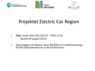 Projektet Electric Car Region