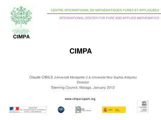 Claude CIBILS  ( Université Montpellier  2 &  Université Nice Sophia  Antipolis ) Director