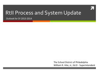 RtII Process and System Update