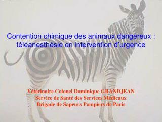 Contention chimique des animaux dangereux : t l anesth sie en intervention d urgence