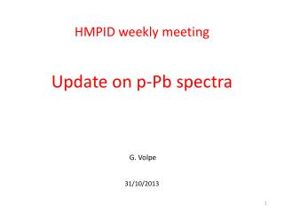 HMPID weekly meeting