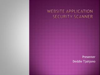 Website Application Security Scanner