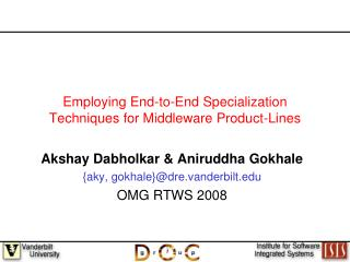 Employing End-to-End Specialization Techniques for Middleware Product-Lines