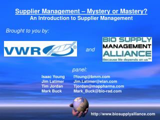 Supplier Management   Mystery or Mastery An Introduction to Supplier Management