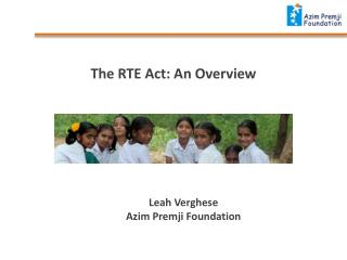 The RTE Act: An  Overview