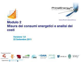 Modulo 2 Misura dei consumi energetici e analisi dei costi