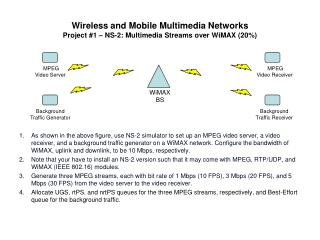 Wireless and Mobile Multimedia Networks  Project #1 – NS-2: Multimedia Streams over WiMAX (20%)