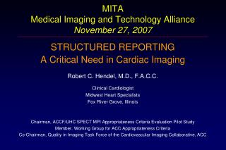 MITA Medical Imaging and Technology Alliance November 27, 2007