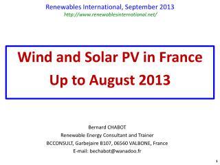 Renewables International,  September  2013  renewablesinternational/