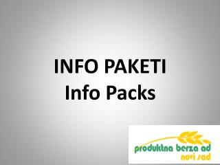 INFO  PAKETI Info  Packs