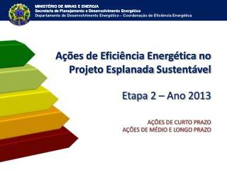 A��es  de Efici�ncia Energ�tica no Projeto Esplanada Sustent�vel