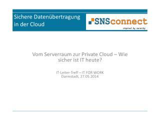 Sichere Daten�bertragung in der Cloud
