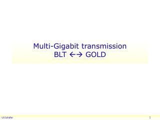 Multi-Gigabit transmission BLT    GOLD