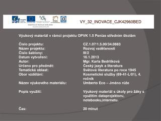 V Y_32_INOVACE_ C JK42960BED