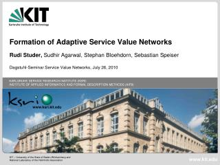 Formation of Adaptive Service Value Networks