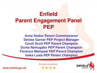 Enfield Parent Engagement Panel PEP