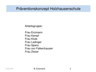 Pr�ventionskonzept Holzhausenschule