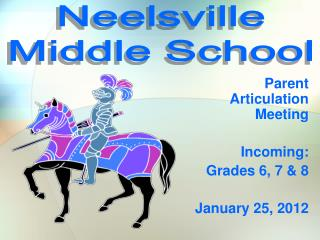 Parent  Articulation Meeting Incoming: Grades 6, 7 & 8 January 25, 2012